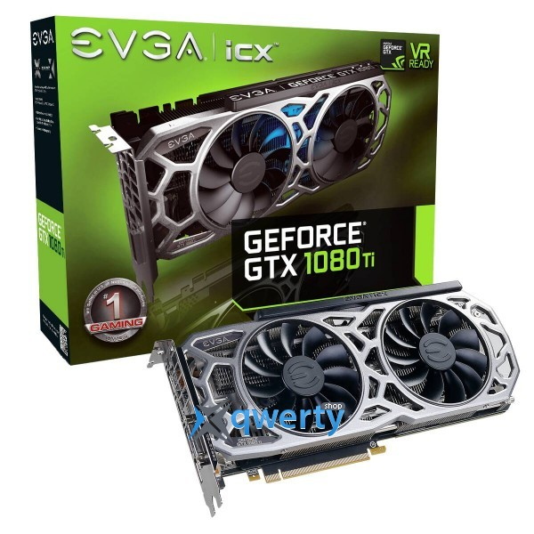 EVGA GeForce GTX 1080 Ti iCX Gaming 11GB GDDR5X (352bit) (1480/11016) (DVI, HDMI, DisplayPort) (11G-P4-6591-KR)