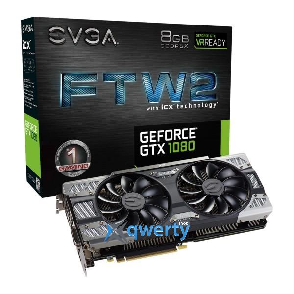 EVGA GTX 1080 8GB GDDR5X (256bit) (1860/10000) (DVI, HDMI, DisplayPort) (08G-P4-6686-KR)