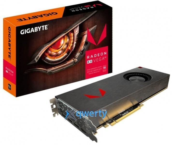 Gigabyte AMD Radeon RX VEGA 64 8GB HBM2 Limited Edition Aluminum (2048bit) (1247/1546) (HDMI, 3x DisplayPort) (GV-RXVEGA64SIL-8GD-B)