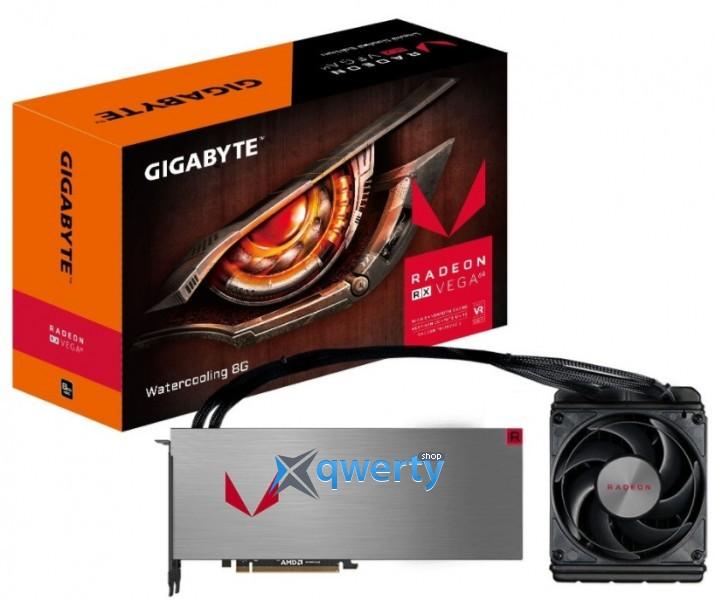 Gigabyte AMD Radeon RX VEGA 64 8GB HBM2 Watercooling (2048bit) (1406/1677) (HDMI, 3x DisplayPort) (GV-RXVEGA64X W-8GD-B