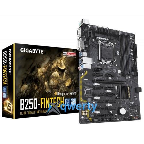 Gigabyte GA-B250-FinTech (s1151, Intel B250, PCI-Ex16)