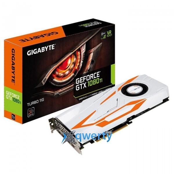 Gigabyte PCI-Ex GeForce GTX 1080 Ti Turbo 11GB GDDR5X (352bit) (1480/11010) (HDMI, 3 x DisplayPort) (GV-N108TTURBO-11GD)