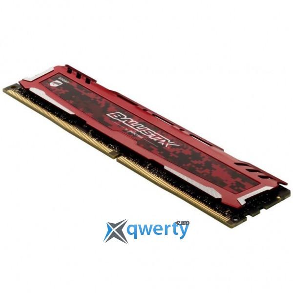 MICRON DDR4-2666 8GB PC4-21300 BALLISTIX SPORT LT RED (BLS8G4D26BFSEK)