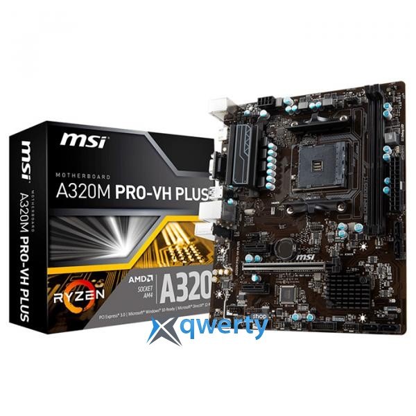 MSI A320M Pro-VH Plus (sAM4, AMD A320, PCI-Ex16)