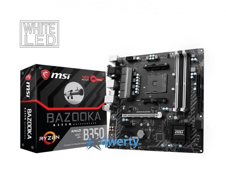MSI B350M Bazooka (sAM4, AMD B350, PCI-Ex16)