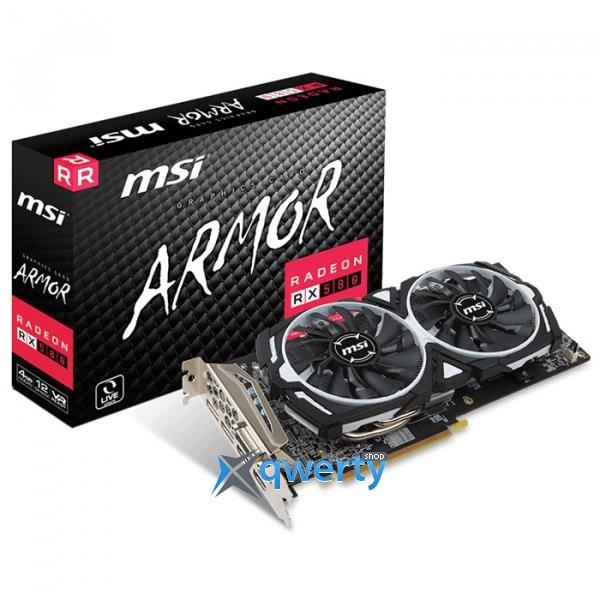 MSI PCI-Ex Radeon RX 580 4GB GDDR5 (256bit) (1340/7000) (DVI, HDMI, DisplayPort) (RX 580 ARMOR 4G V1)