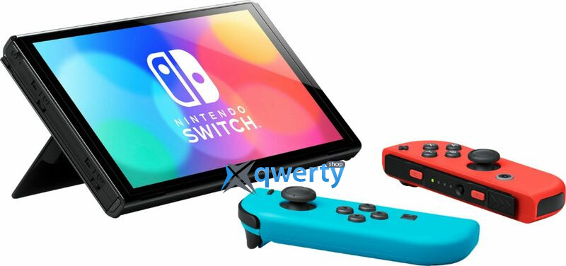 Nintendo Switch OLED Neon Red Neon Blue