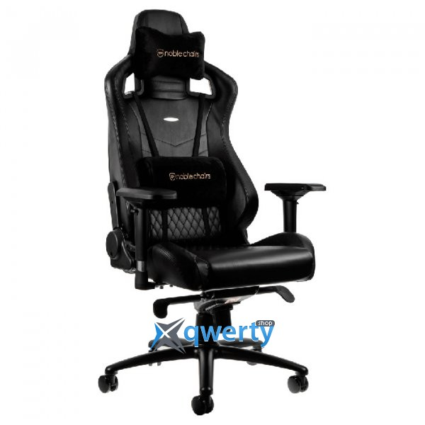 NOBLECHAIRS Epic Series Real Leather Black (GAGC-033)