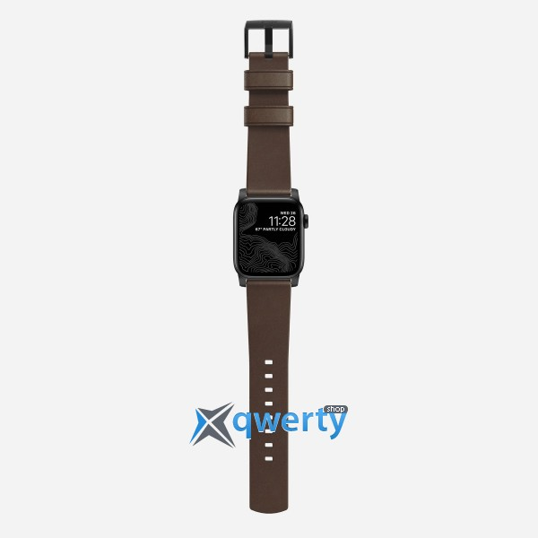 Nomad Modern Strap for Apple Watch 44mm/42mm Black/Brown (NM1A4RBM00)
