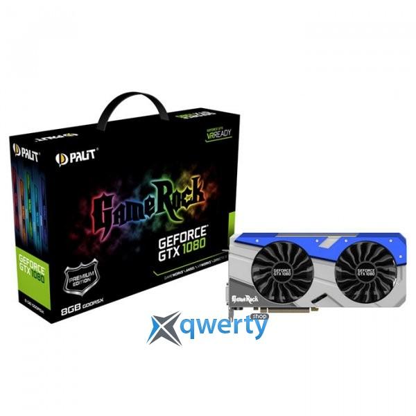Palit GeForce GTX 1080 GameRock Premium Edition 8GB GDDR5X (256bit) (1746/10500) (DVI, HDMI, 3 x DisplayPort) (NEB1080H15P2-1040G)