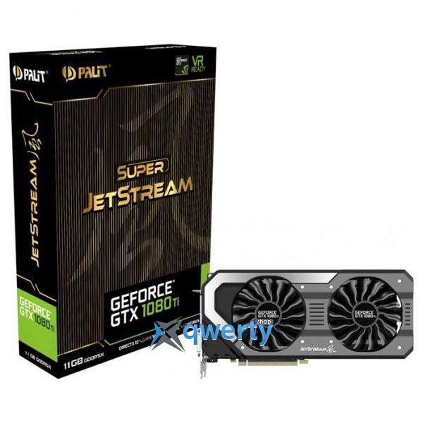 Palit GeForce GTX 1080 Ti Super JetStream 11GB GDDR5X (352bit) (1531/11000) (DVI, HDMI, 3 x DisplayPort) (NEB108TS15LC-1020J)
