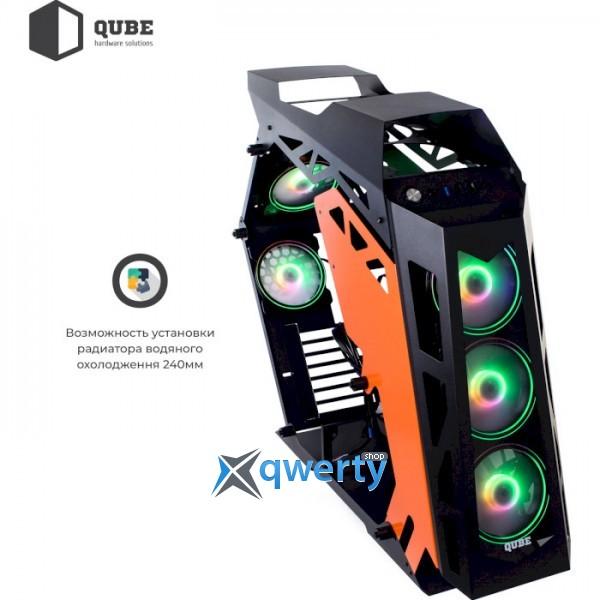 QUBE Stalker Max Black/Orange (STALKER_FMBE3)