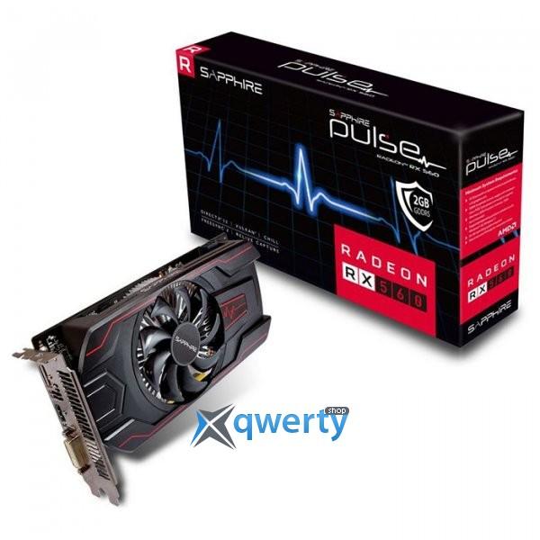SAPPHIRE Radeon RX 560 2GB GDDR5 Pulse OC (128bit) (1226/6000) (DVI, HDMI, Display Port) (11267-19-20G)