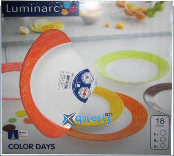СЕРВИЗ LUMINARC COLOR DAYS ORANGE 18 ПРЕДМЕТОВ L1503