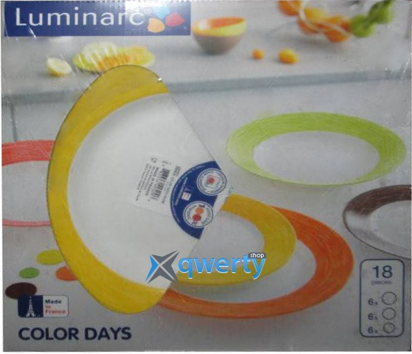 СЕРВИЗ LUMINARC COLOR DAYS YELLOW 18 ПРЕДМЕТОВ L1506