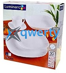 СЕРВИЗ LUMINARC LOTUSIA WHITE 30 ПРЕДМЕТОВ H3902