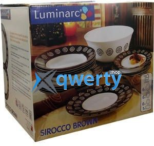СЕРВИЗ LUMINARC SIROCCO BROWN 19 ПРЕДМЕТОВ G4135