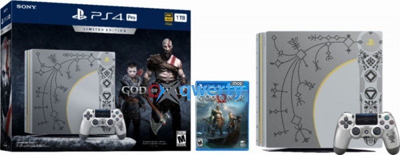 Sony PlayStation 4 Pro 1TB Limited Edition God of War Console Bundle