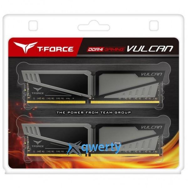 TEAM T-FORCE VULCAN GRAY DDR4 32B (2x16GB) 2666MHz PC4-21300 (TLGD432G2666HC15BDC01)