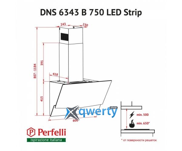 PERFELLI DNS 6343 B 750 WH LED STRIP