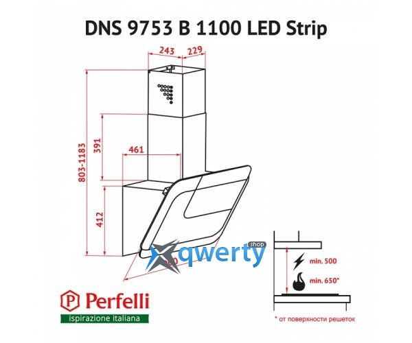 PERFELLI DNS 9753 B 1100 WH/BL LED STRIP