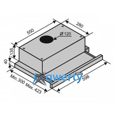 VENTOLUX GARDA 50 INOX (650) IT H